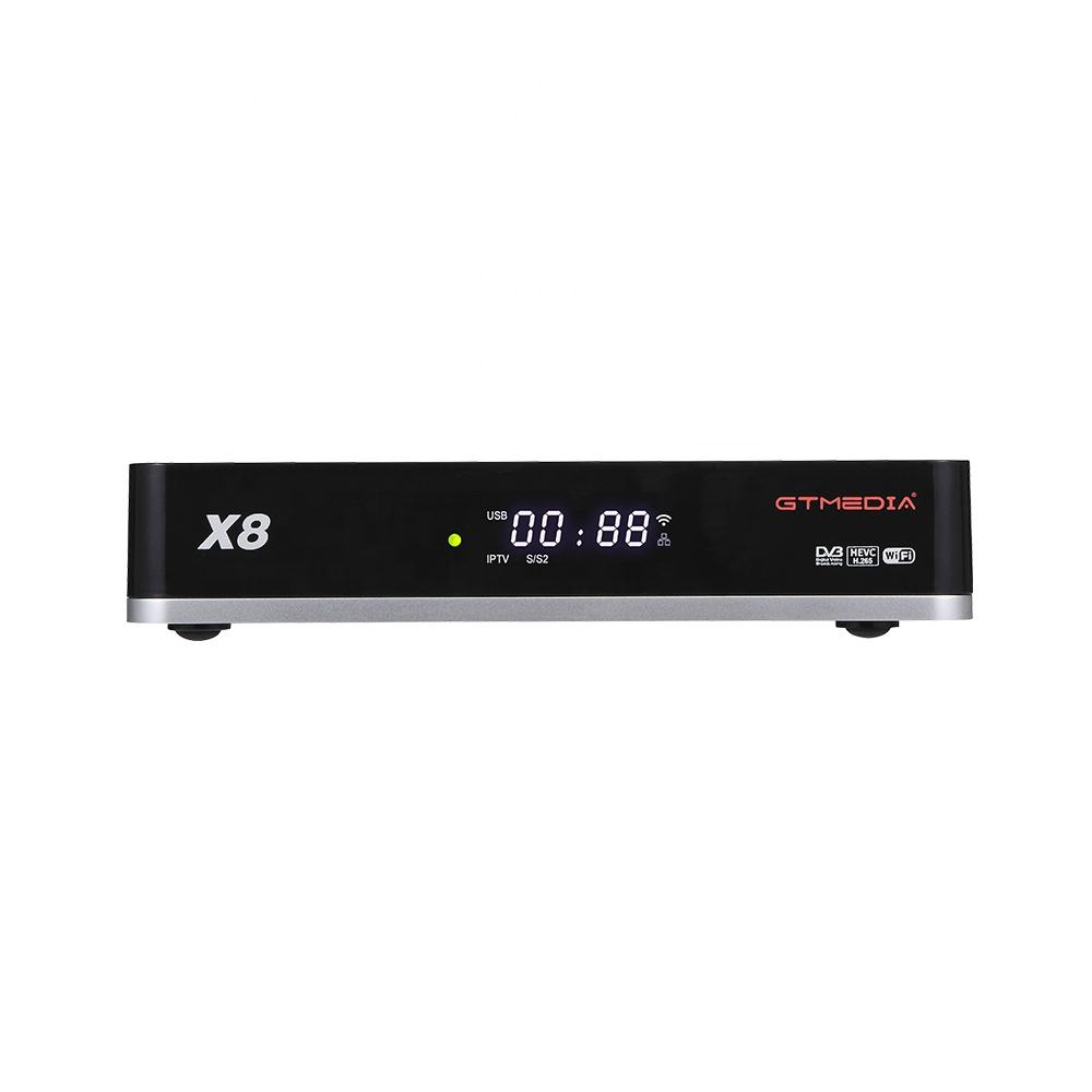 2020 Latest GTMEDIA X8 DVB S2X SCART SAT TV HD IPTV Mult-stream set top box