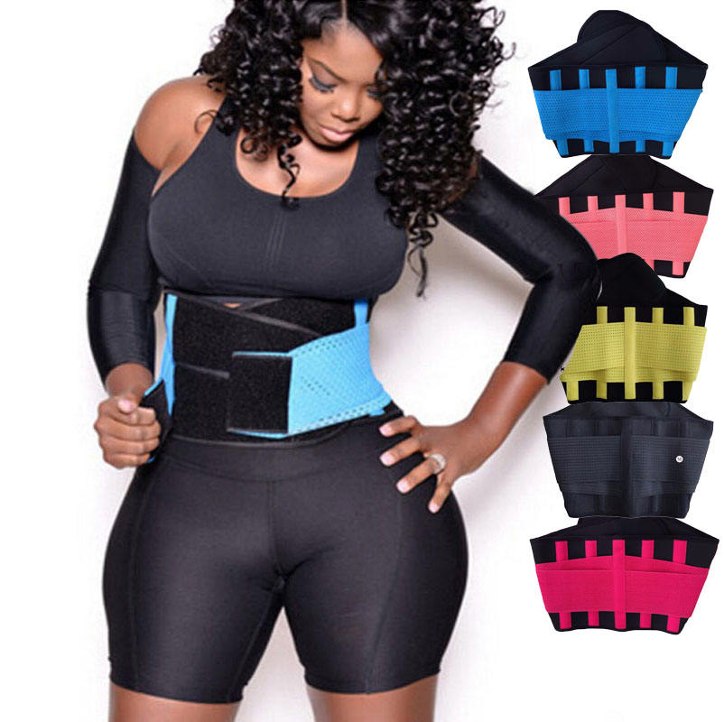 Hot Sale Double Belt Latex Waist Trainer Firm Control Latex Waist Trainer Tummy Control Sweat Belt Waist Trimmer Stomach