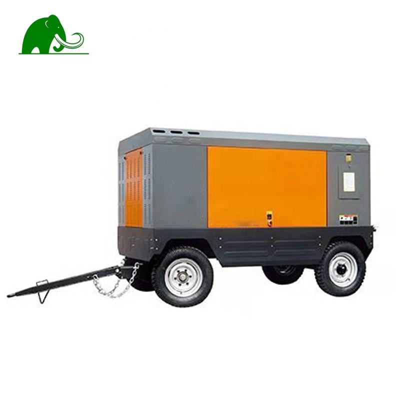 Mobile Movable Compresor Screw Air Compressor With Jackhammer For Sale