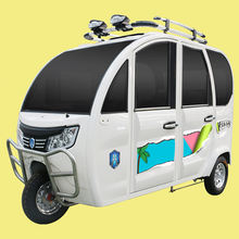 electric tricycle for passenger tourism three wheel closed model