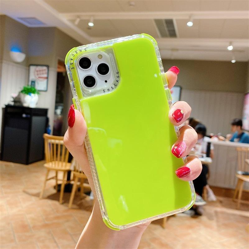 SHINING 12 Cover Silicon Mobile Neon Cell Borderless Phone Candy Color Frameless Case For MOBILE phone 11/11PRO/11PRO MAX