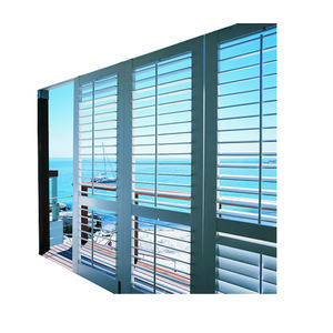 Latest Fashion USA Europe Style Apartment Aluminum Sunshade Break Double Glass Louver Shutter Window for house hotel