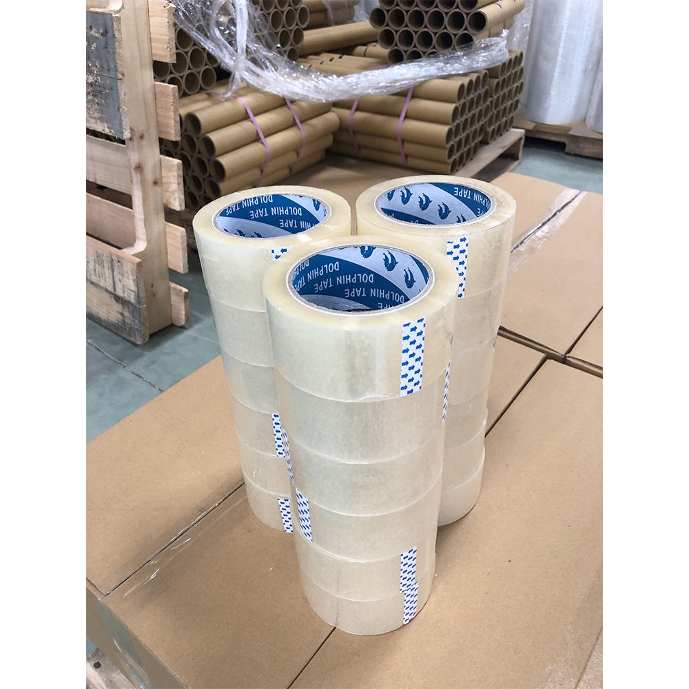 High quality single sided OPP packing tape hand roll for carton sealing and shipping