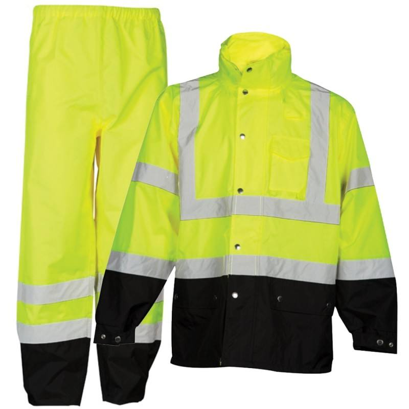 High Visibility reflective track suits reflective rain suits motorcycle