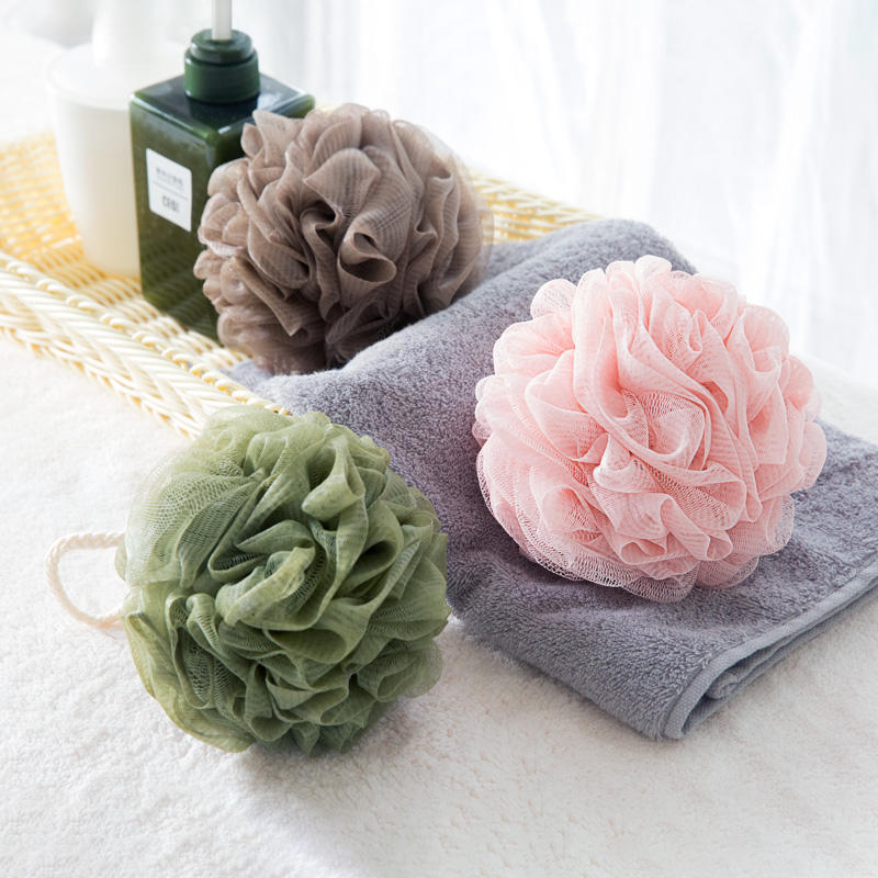 Natural flower bath shower ball sponge eco friendly body loofah mesh bath ball sponge