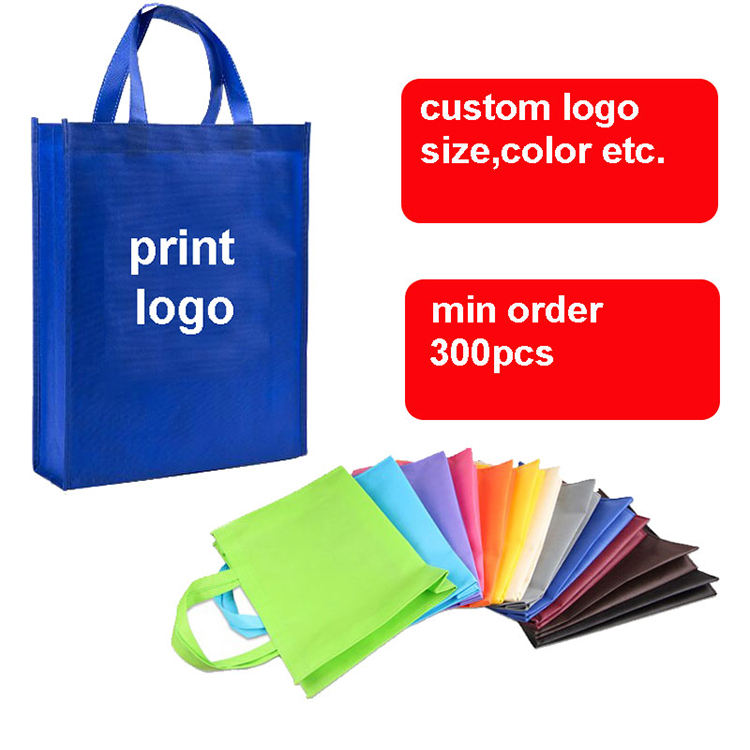 Durable supermarket shopping bag reusable portable collapsible clothing carrying grocery vegetables packaging non woven bag