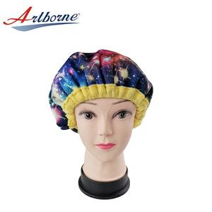 Home Use Products Heat Cap Hair Treatment Steam Cap Heat Therapy Thermal Spa Hair Steamer Flaxseed Gel Hair Cap Bonnet