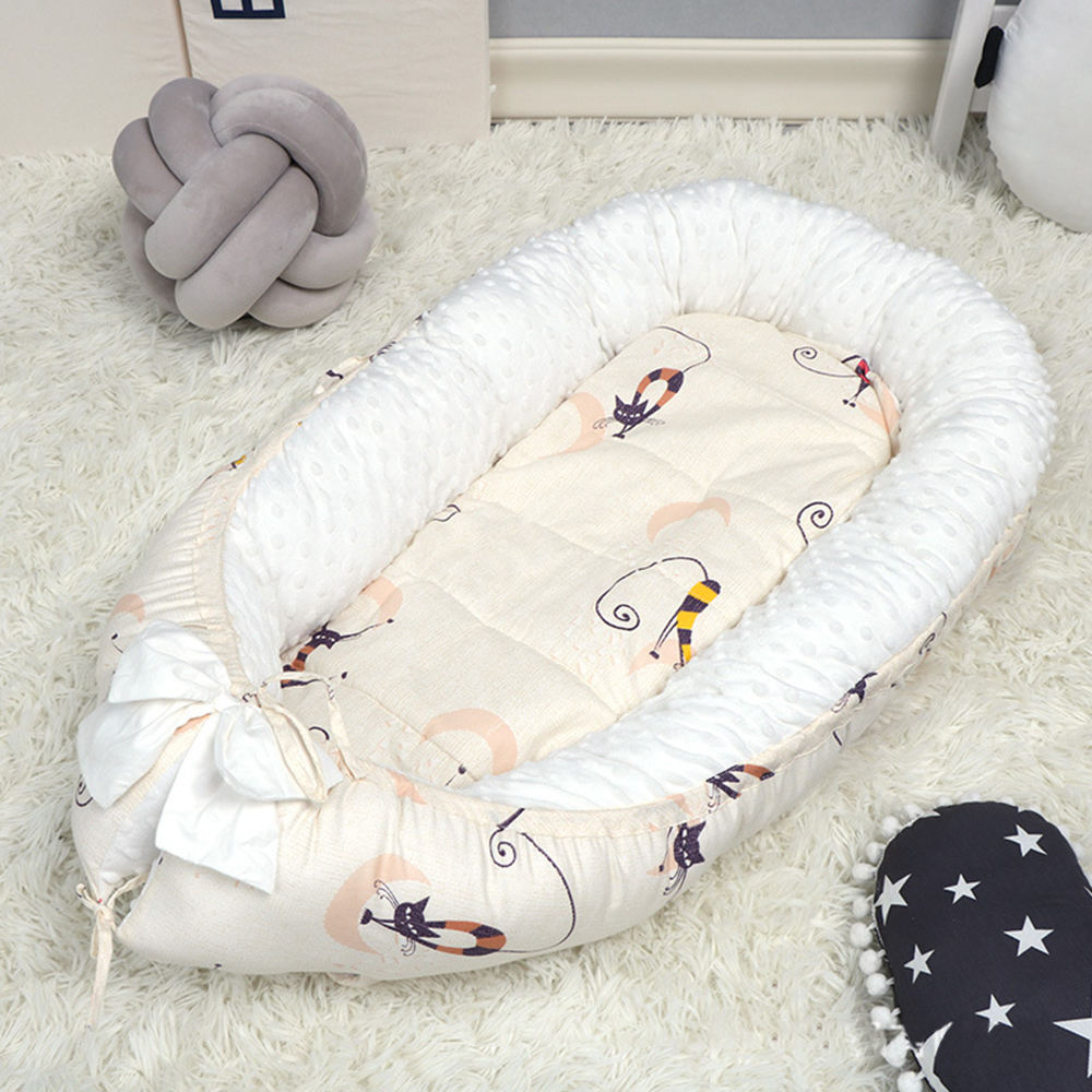 Cute design baby nest soft cotton baby bed in bed pretty comfortable safety baby crib