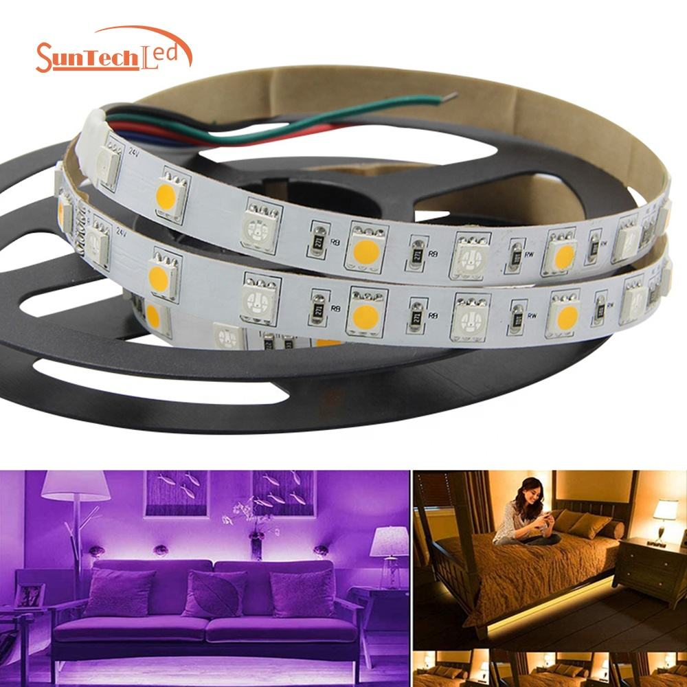 High Quality Not Easy Break Long Life Flexible Led Strip Light 5050 Rgb+w 5m led light strip