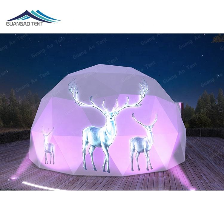 Any color glamping safari tent 10 m 30 m eco living geodesic dome tent for sale