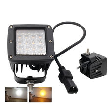 Super Bright 12V Waterproof Ip68 Dual Color Amber Cool White Led Strobe Lights For Trucks