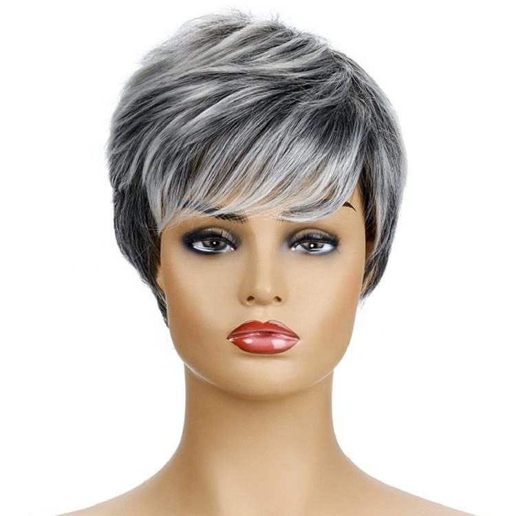 Custom Color Daily Use Short Design Synthetic Wig