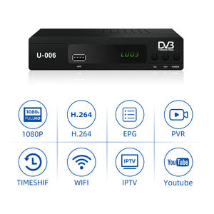 Junuo Harga Pabrik DVB T2 Receiver Terrestrial DVB-T2 MPEG-2/-4 H.264 FTA Full HD Mini Set Top Box