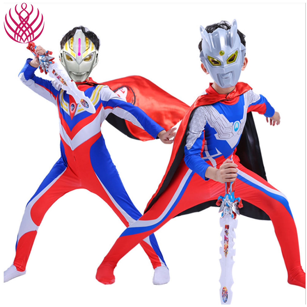 Japanese Classic Anime Ultraman Zero Cosplay Cloth Adult Children Cosplay Jumpsuits Costume