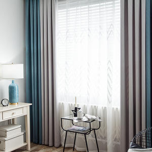 Various color 100% polyester ready made blackout embossed velvet blackout curtains