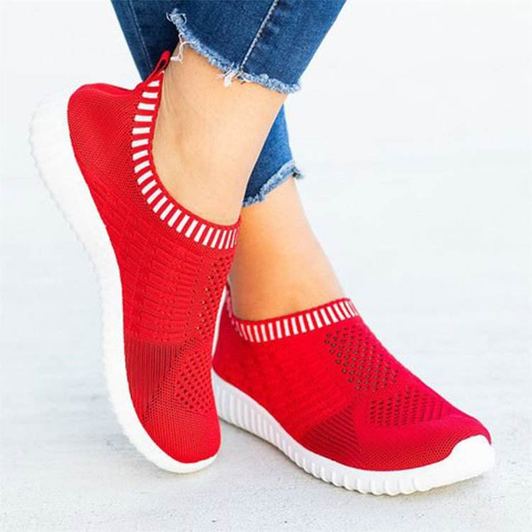 Breathable mesh comfortable jogging sneakers essential outdoor picnics women's casual shoes