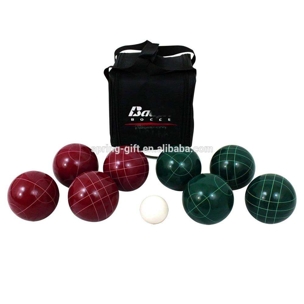 Free Carrying Case Quality Outdoor Sport Lampadari Bocce Resin Material Bocce Ball 103mm professional