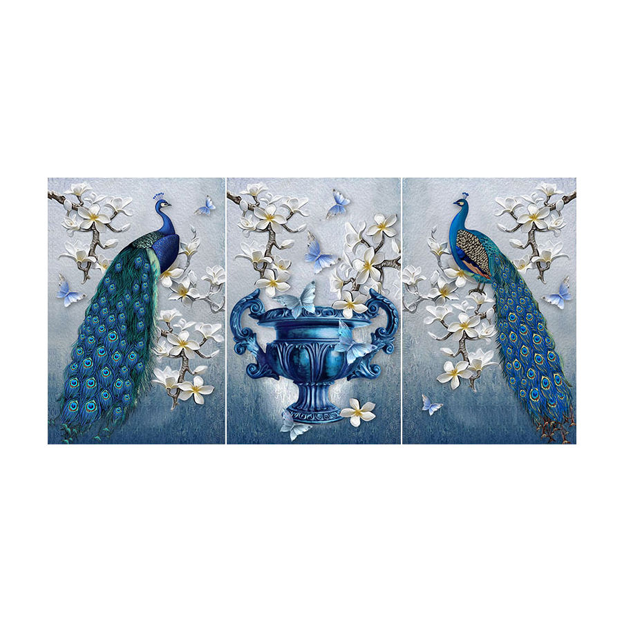 High Quality Digital Printed Peacock Picture Wall Hanging Art Oil painting on Canvas