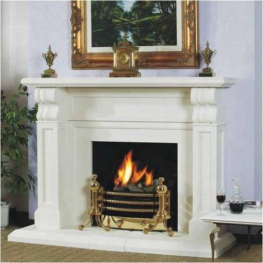 Modern fire place white marble electric fireplace surround