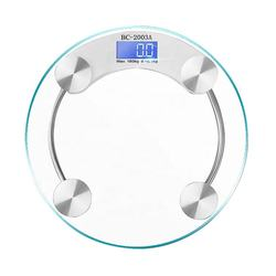 Digital Body Weight Bathroom Scale 5mm Tempered Glass Electronic Weighing Scale