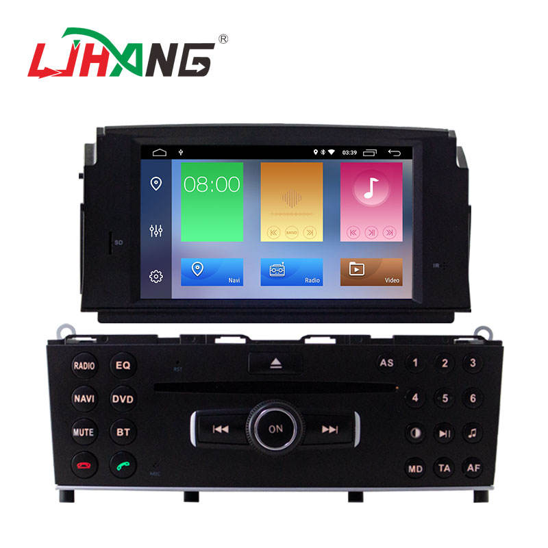 1din touch screen stereo adnriod 10,0 2 + 16G auto multimedia radio für mercedes C200 bluetooth GPS navigation audio DVD auto-player