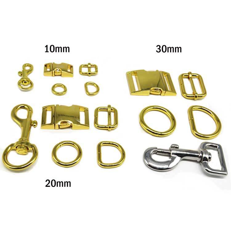 Custom 3/4 Inch 20mm Shiny Gold Zinc Alloy Dog Collar Buckle Metal Side Release Buckle