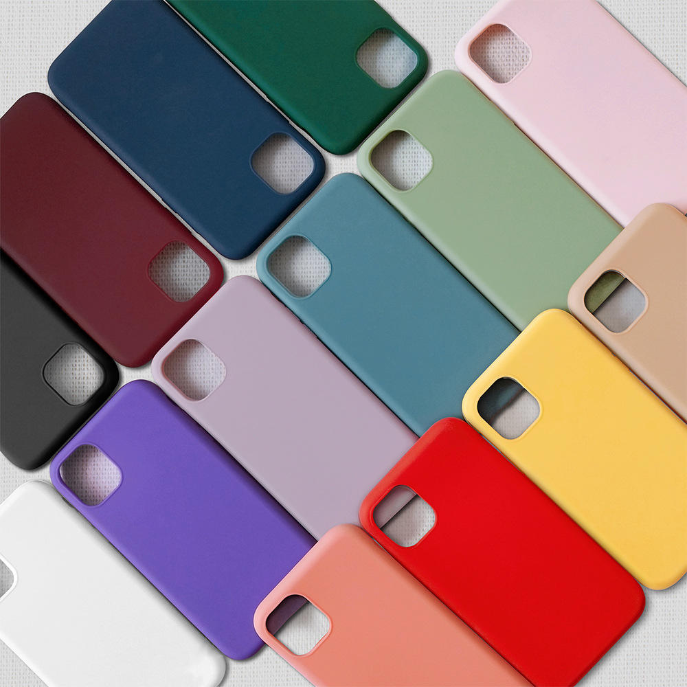 custom wholesale soft Shockproof Thin Anti-knock Candy Color premium Silicon tpu mobile cell phone case 2020 For iphone