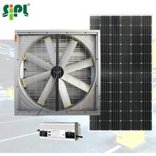 Sunny Solar Powered Day-Night Wall Ventilation 48'' DC Exhaust Fan for Underground Parking Negative Pressure Heat Extractor Fan