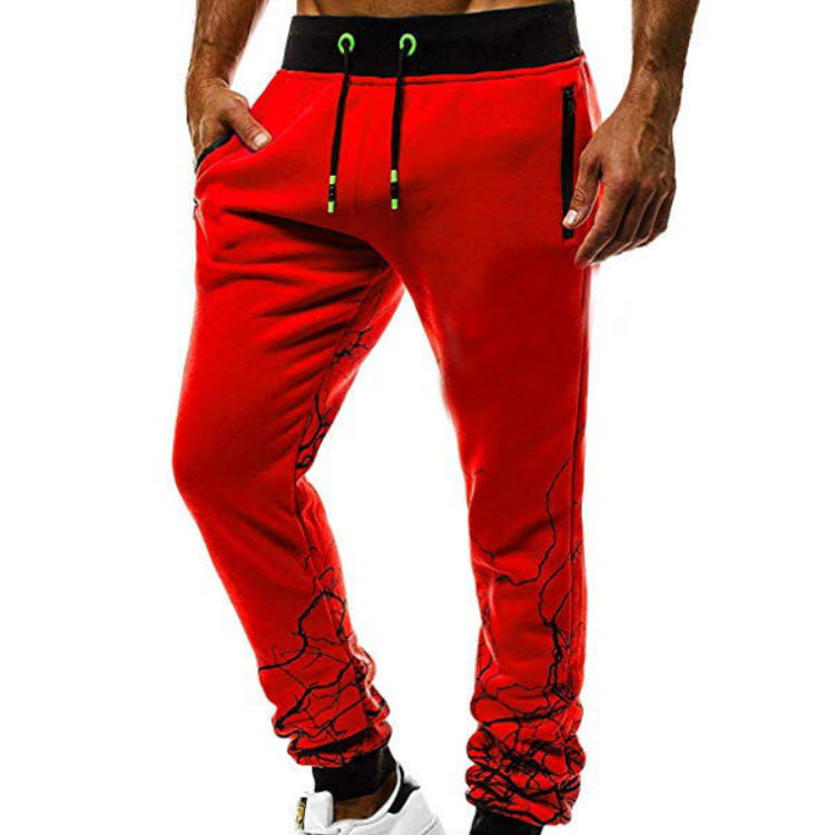 New Men Hot sale Gradient color jogging pants Hip hop Slim fit Tether Sexy Muscular man Running trousers