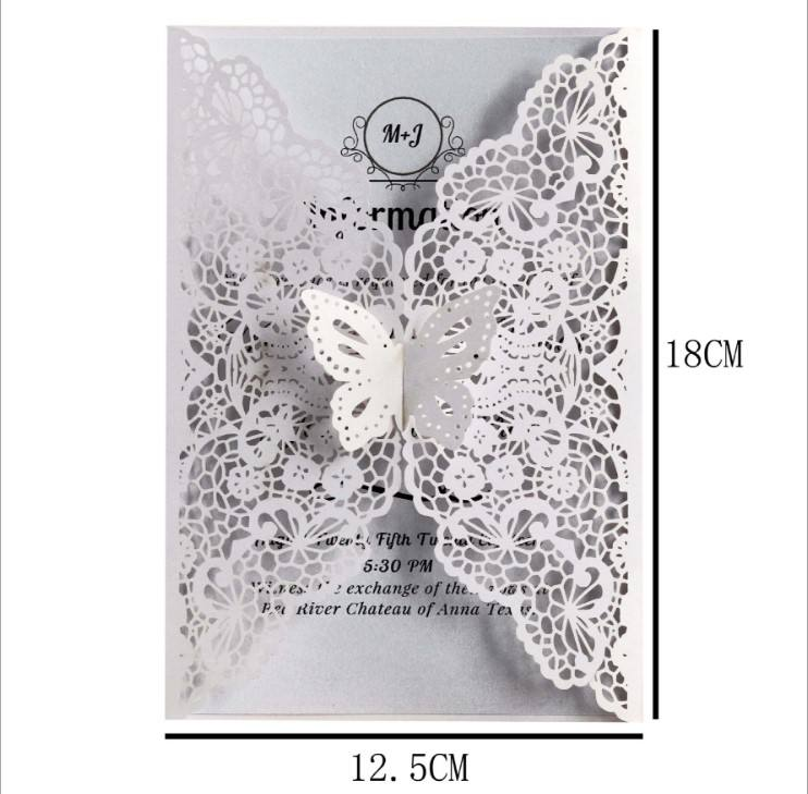 Wedding Laser Cut Butterfly Invitations Cards Customize Invitations RSVP Cards For Wedding Bridal Shower Birthday Party supply