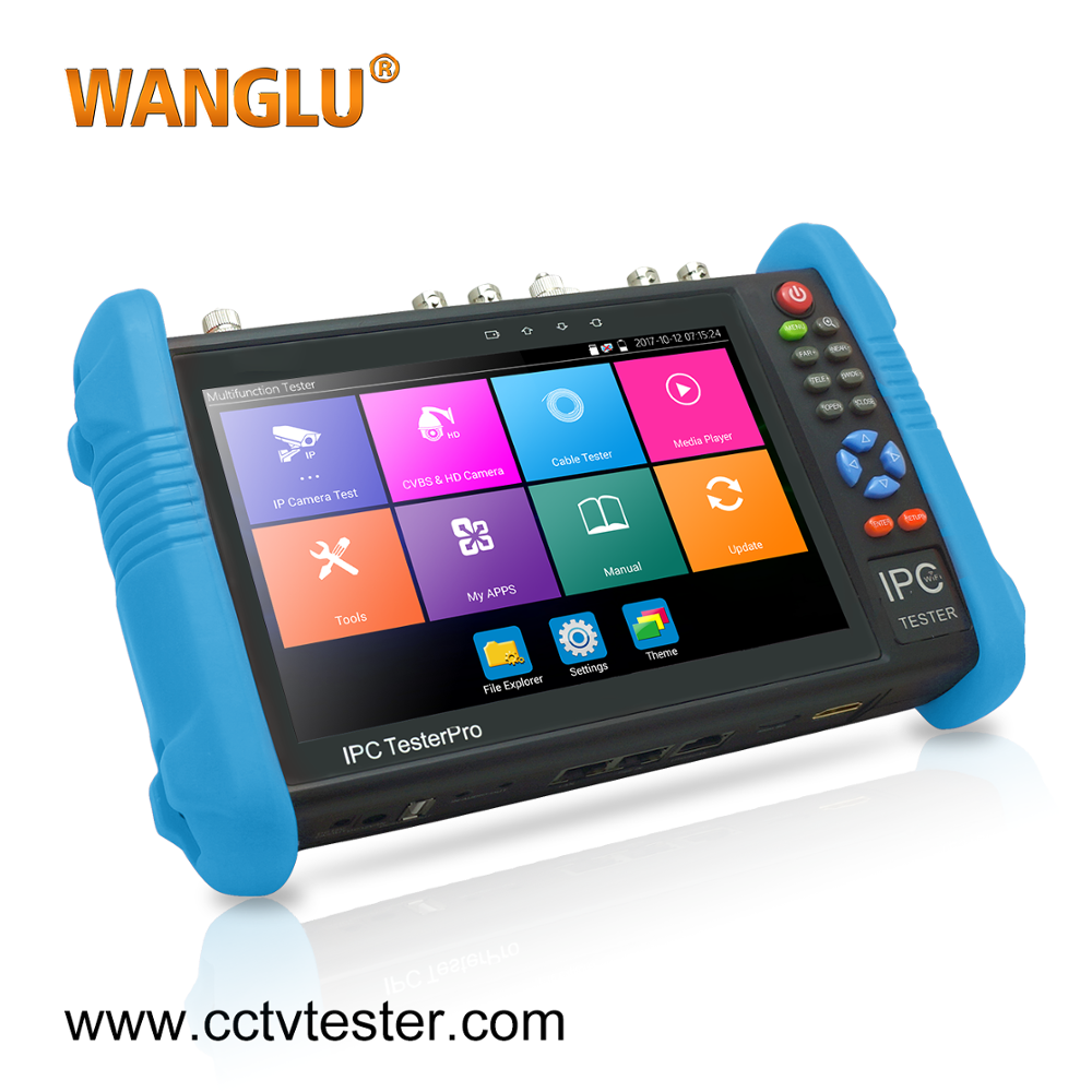 Top quality 7 inch IP and Analog IPC-9800 AHD TVI CVI SDI 6 in 1 camera tester