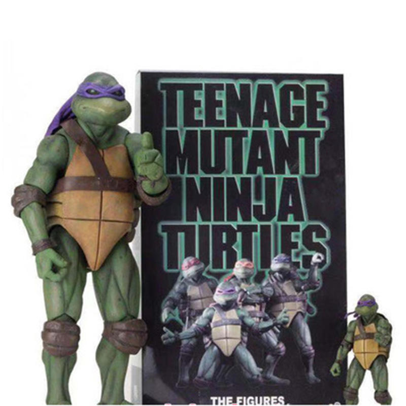 1990 film version of the teenage mutant ninja turtles TMNT action figures limited edition 7 inches and moving my hand model toys