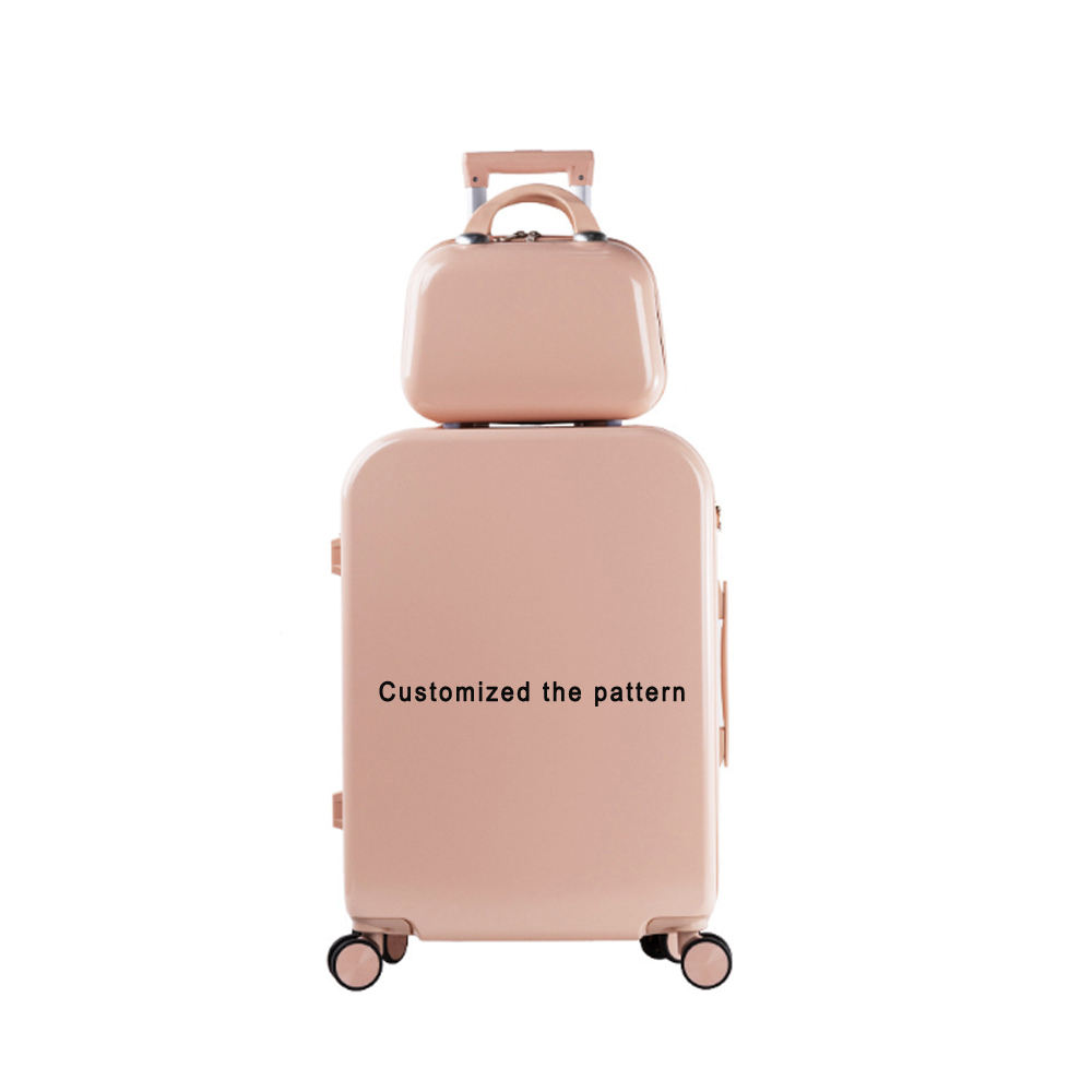 Dropshipping OEM unique Print personality customize design suitcase luggage