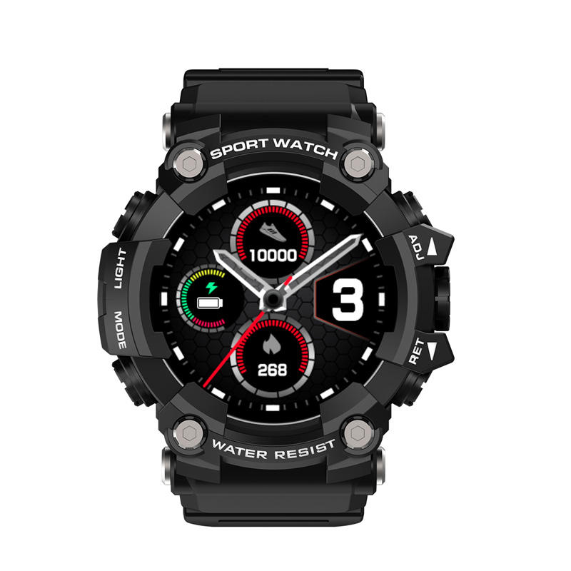 T6 Tactische Robuuste Smart Horloge Armband IP68 Waterdicht 1.3 Inch Full Circle Full <span class=keywords><strong>Touch</strong></span>