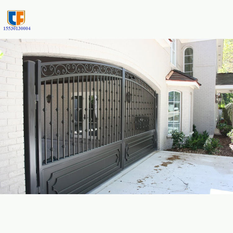 European beautiful luxury simple design powder coating ornamental exterior entrance metal modern modern iron gate paint colors