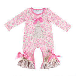 European and American girls velvet climbing suit comfortable baby jumpsuit lovely spring clothes