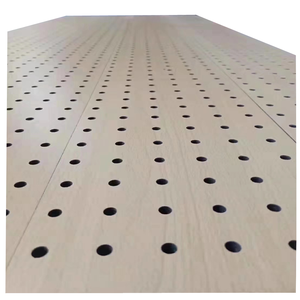 sound insulation Wood Acoustic Wall Panel perforated decorative Perforated Wood Acoustic Panels