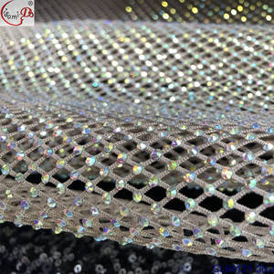 Wholesale Diamond Mesh Wrap Roll Sparkle Rhinestone Ribbon Banding Crystals Rhinestone fabric For Popular design