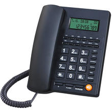 Office home hotel phone battery-free caller id phone LCD brightness adjustable
