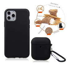 For iPhone with Earpod Biodegradable Cover Shoulder Strap Necklace Case