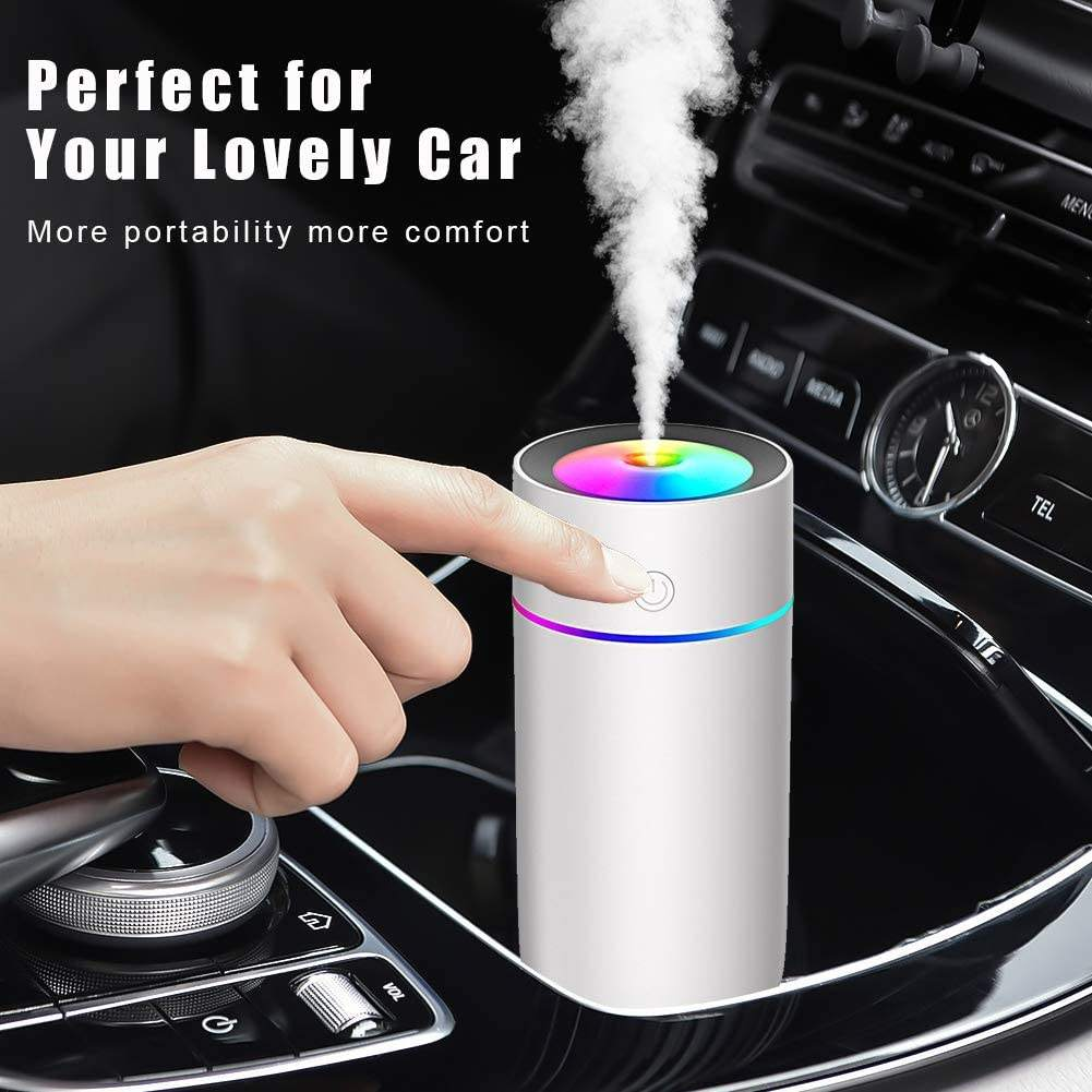 Custom ROHS mini h2o air purifier diffuser UBS led car ultrasonic humidifier