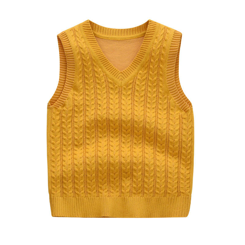 Wholesale boutique kids clothing trendy plaid baby knitted Sweater vest