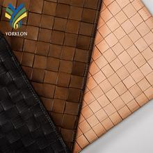 YKBY6 genuine leather woven leather for luxury hotel interior wall coverings upholstery home textile decoration
