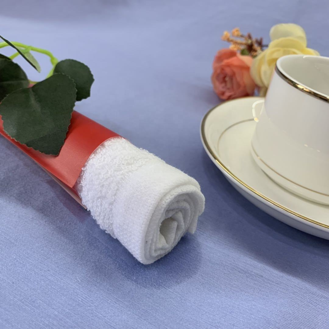 Disposable Cotton Refreshing Towels Single Pack Disposable Refreshing Cotton Wet Towel For Restaurant And Airplane