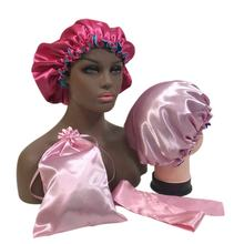 2021 Women double layer  satin hair bonnet more clolor for choice