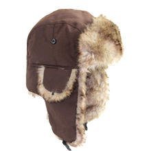 Q93 Aviator Bomber Soft Faux Fur Ear Flap Hat Cap Winter Ski Trooper Trapper Winter Hats