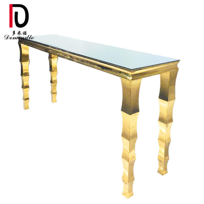 banquet event high bar gold stainless steel wedding cocktail table
