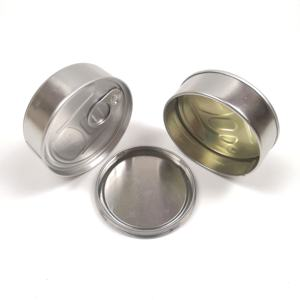 100 ml Custom Empty Metal Pressitin Tin Cans For dry Food dry flower and herbs large In Stock