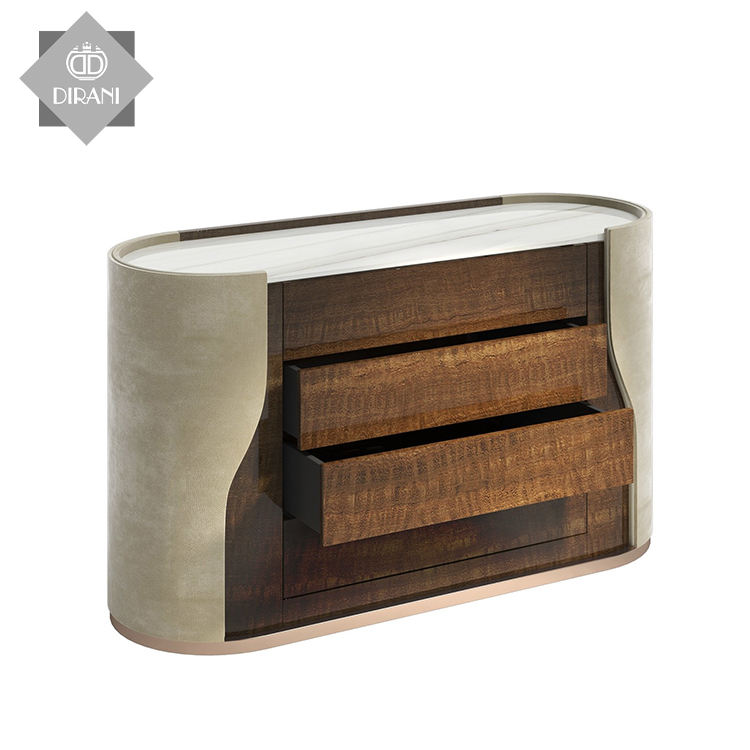 Modern bedroom light luxury chest of drawers storage cabinet Nordic living rooml sofa side cabinet