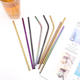 Wholesale Reusable Black PVD Color Metal Drinking Straw Set